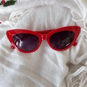 Red vintage looking sunglasses